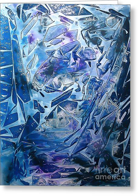 Frozen Greeting Card by Heather  Hiland