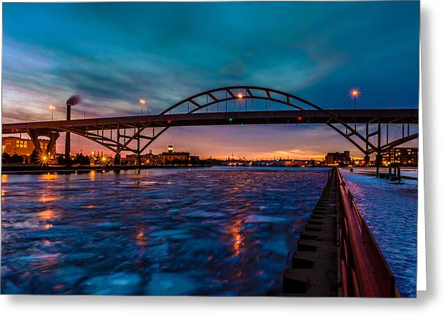 Frozen Hoan Bridge Greeting Card
