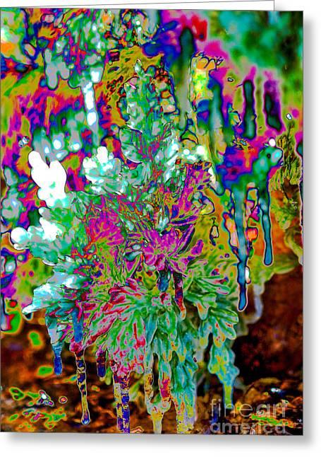 Greeting Card featuring the digital art Frozen Juniper by Mae Wertz