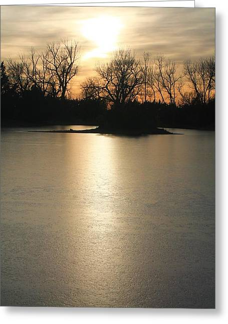 Frozen Lake Greeting Card by Alicia Knust