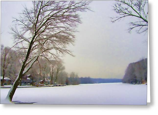 Frozen Lake Greeting Card by James Yellen