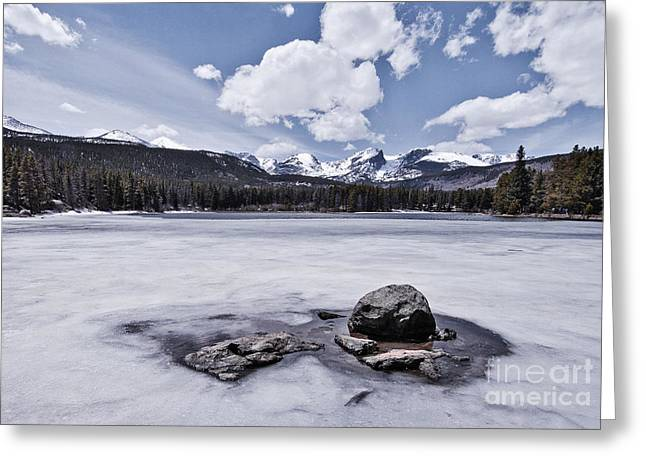 Greeting Card featuring the photograph Frozen Lake by Mae Wertz