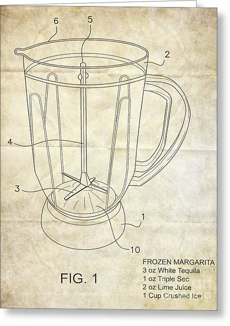 Frozen Margarita Recipe Patent Greeting Card by Edward Fielding