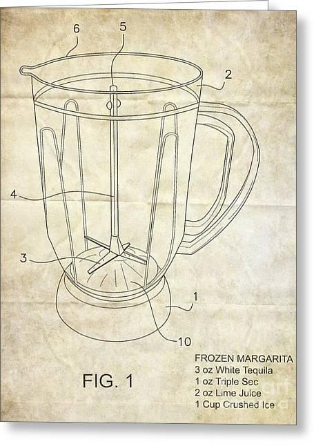 Frozen Margarita Recipe Patent Greeting Card