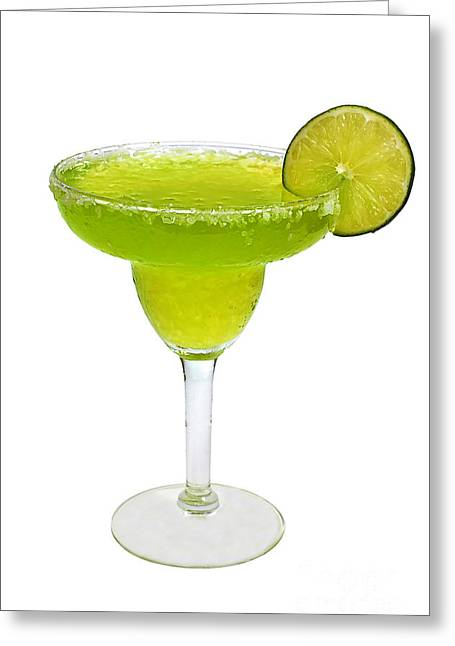 Frozen Margarita With Lime Isolated Greeting Card