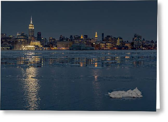 Frozen Midtown Manhattan Nyc Greeting Card by Susan Candelario