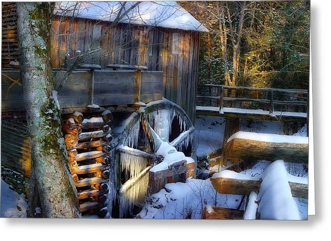 Frozen Mill In The Cove Greeting Card by Michael Eingle