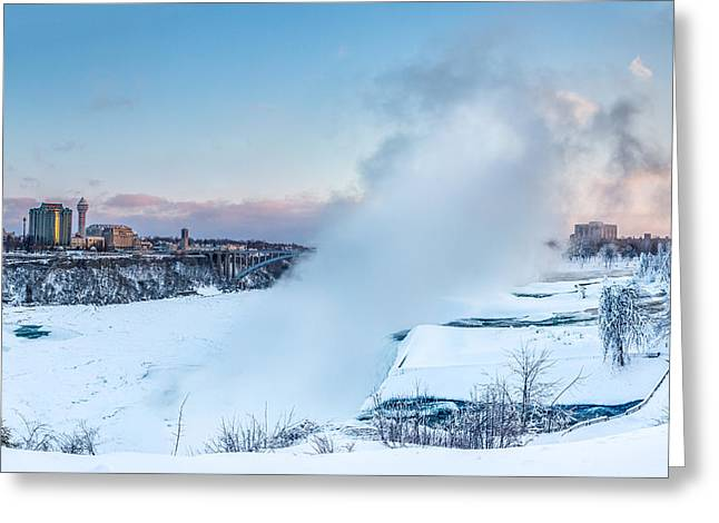 Frozen Niagara N1 Greeting Card