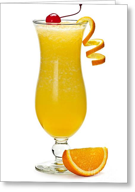 Frozen Orange Drink Greeting Card by Elena Elisseeva