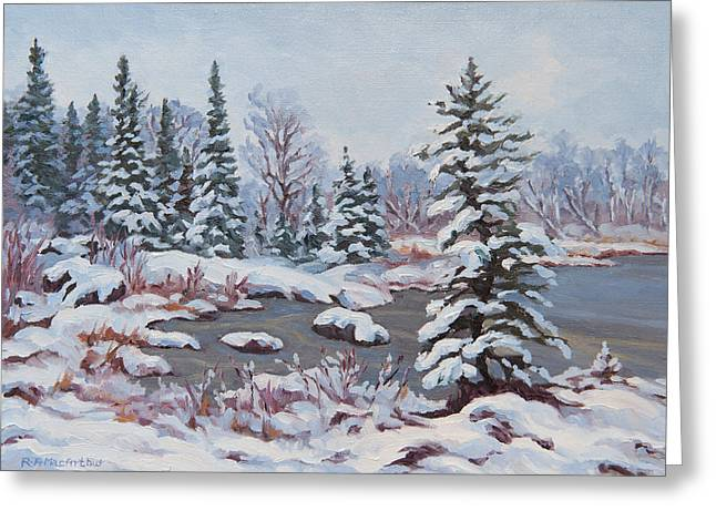 Frozen Pond Greeting Card by Rob MacArthur