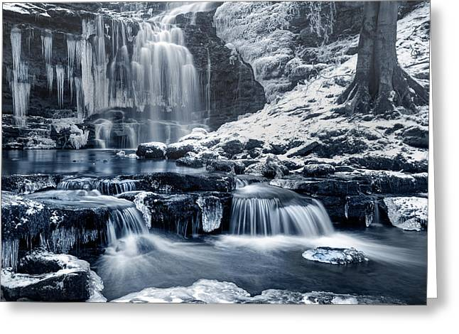 Frozen Scaleber Force Falls Greeting Card by Chris Frost