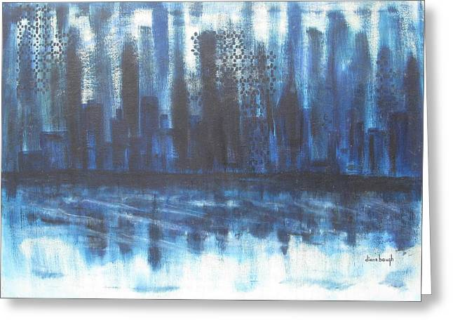 Frozen Skyline Greeting Card by Diane Pape