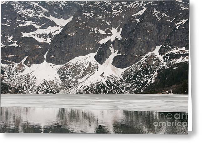 Frozen Spring Morskie Oko Lake  Greeting Card by Arletta Cwalina