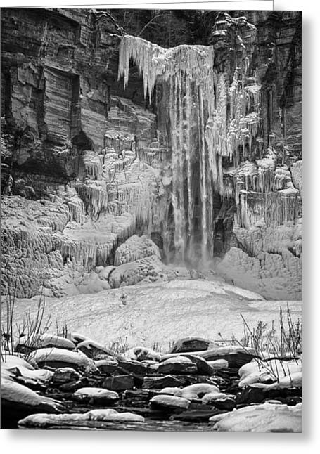 Frozen Taughannock Falls Greeting Card by Monroe Payne