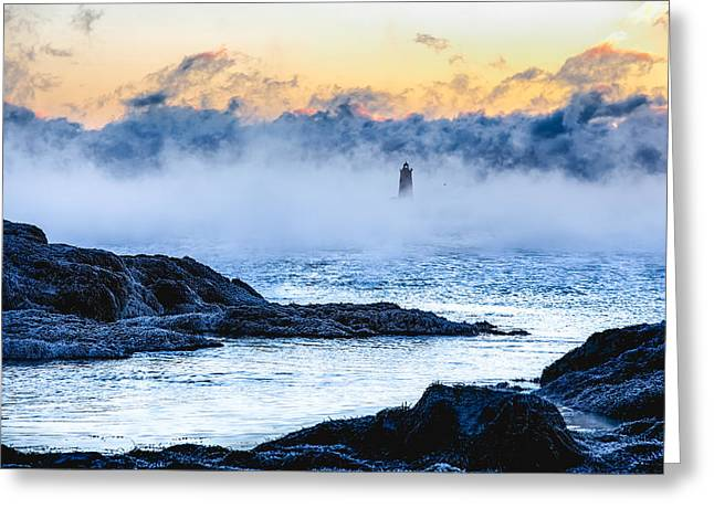 Frozen Tide Greeting Card by Robert Clifford