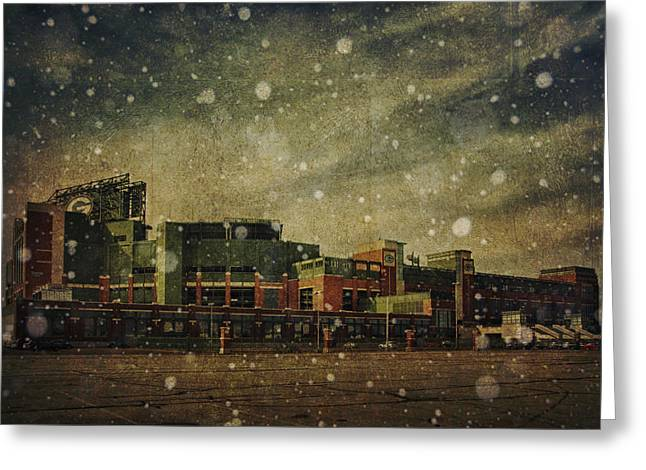 Frozen Tundra Part II - Lambeau Field Greeting Card