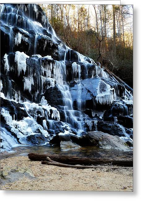 Frozen Waterfall Greeting Card by Adam LeCroy