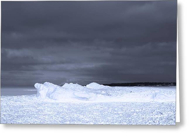 Frozen Wave On Lake Michigan Greeting Card by Dan Sproul