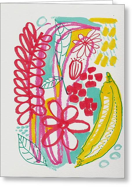 Fruit Abstract Greeting Card