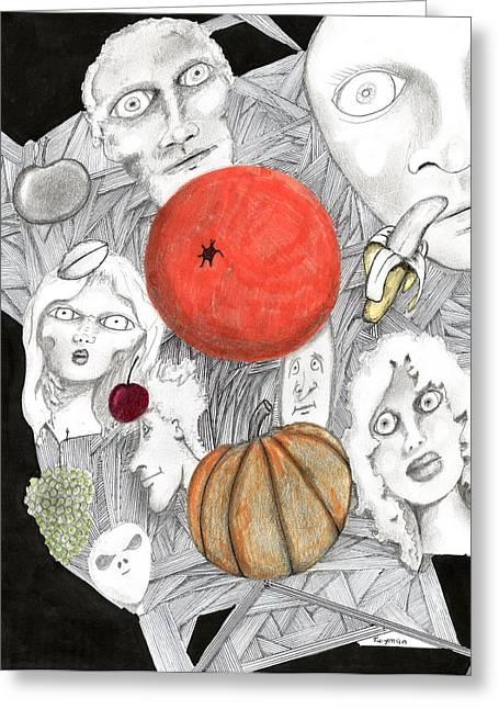 Fruit Afloat Greeting Card by Dan Twyman