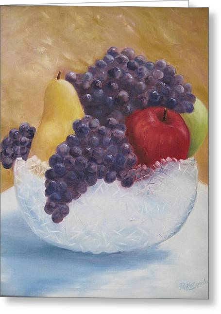 Fruit And Crystal Greeting Card