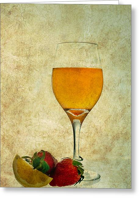 Fruit And Drink Greeting Card