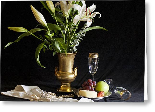 Greeting Card featuring the photograph Fruit And Flowers by Rick Hartigan