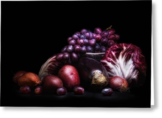 Fruit And Vegetables Still Life Greeting Card by Tom Mc Nemar