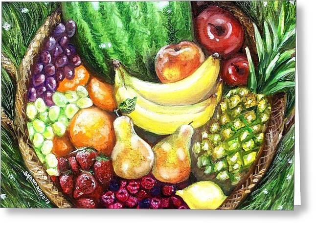 Fruit Basket Greeting Card by Shana Rowe Jackson
