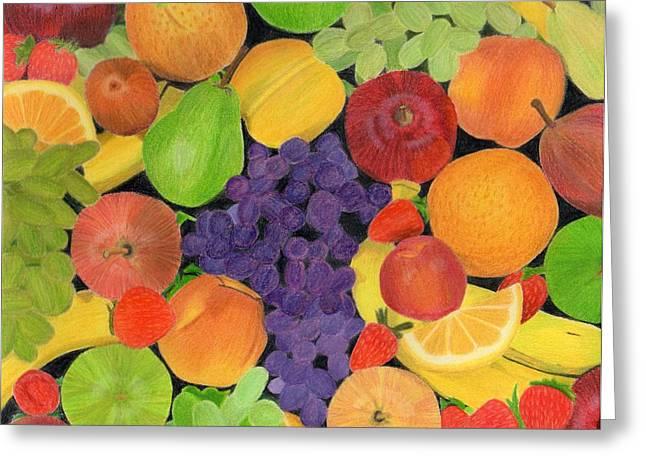 Fruit Greeting Card by Bav Patel