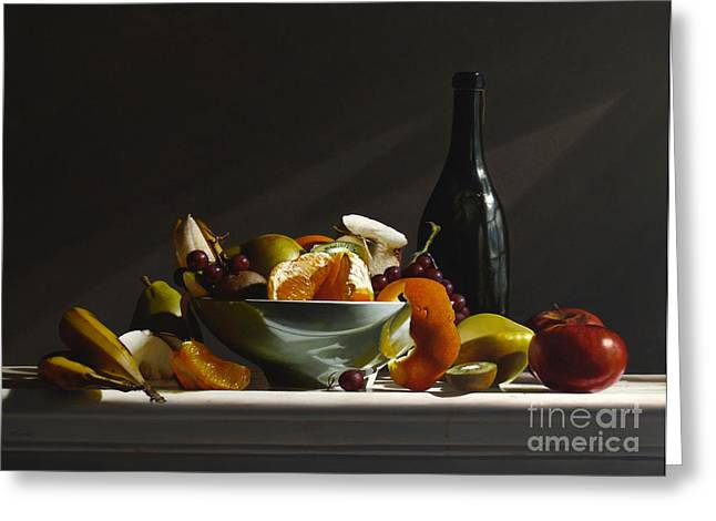Fruit Bowl No.3 Greeting Card by Larry Preston