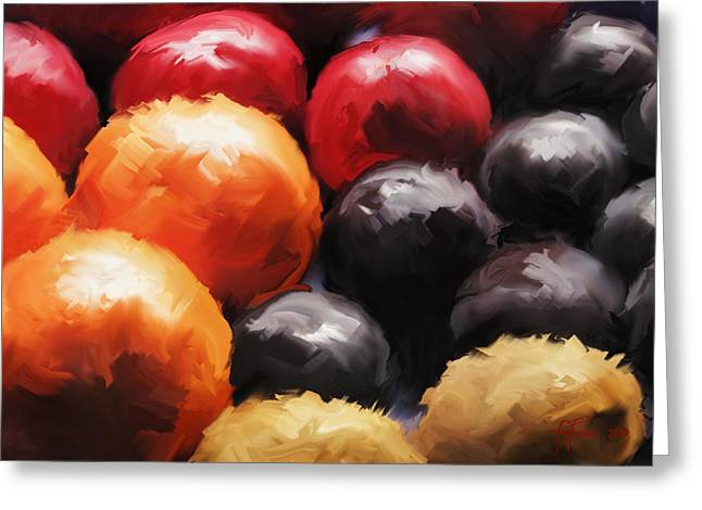 Fruit Bowl Greeting Card by Vincent Franco