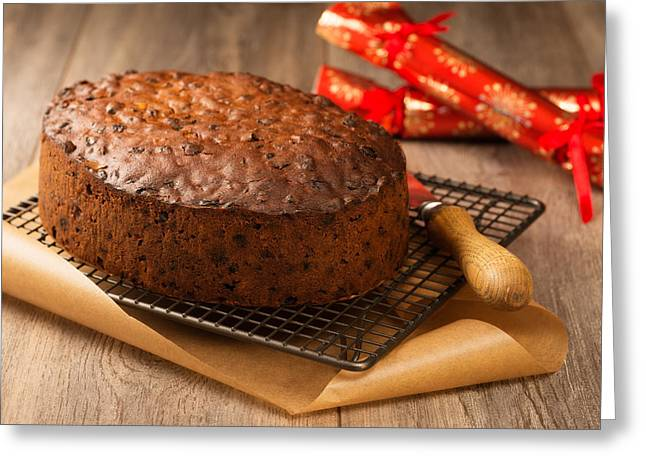 Fruit Cake Greeting Card by Amanda Elwell