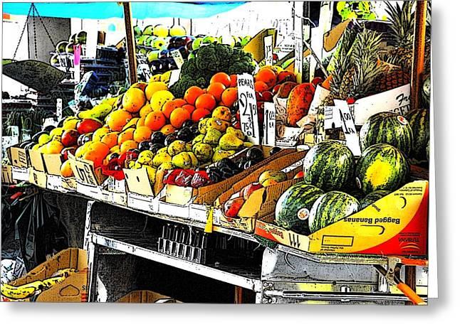 Fruit Cart Greeting Card