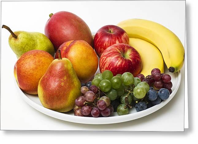 Fruit Dish Greeting Card by Donald  Erickson