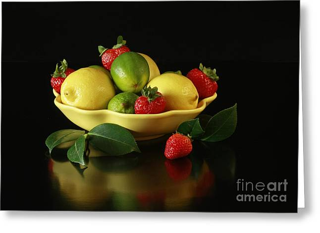 Fruit Explosion Greeting Card by Inspired Nature Photography Fine Art Photography