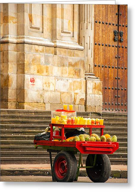 Fruit For Sale On A Cart Greeting Card by Jess Kraft