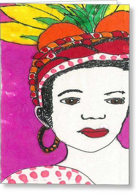 Fruit Hat Greeting Card