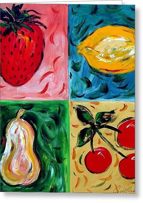 Fruit Ll Greeting Card by Cynthia Hudson