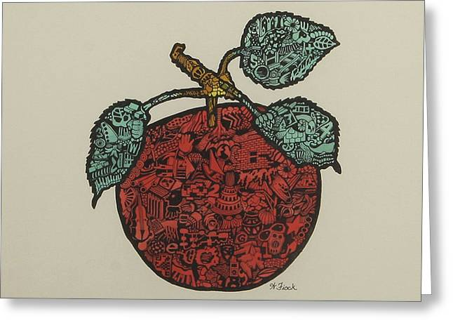 Fruit Of Plenty Greeting Card by Wendell Fiock