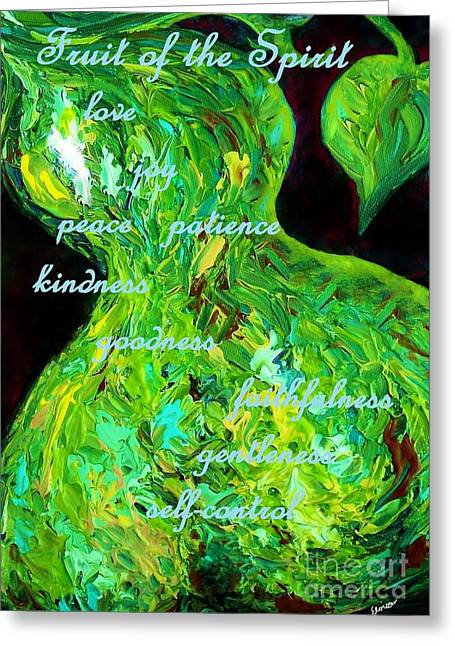 Fruit Of The Spirit Greeting Card by Eloise Schneider