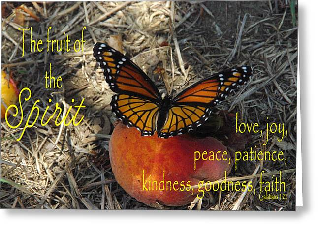 Fruit Of The Spirit Greeting Card by Robyn Stacey