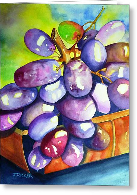Purple Grapes Greeting Card