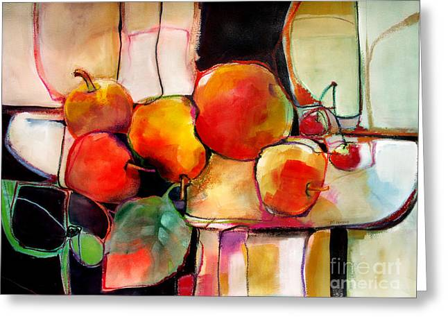Fruit On A Dish Greeting Card by Michelle Abrams