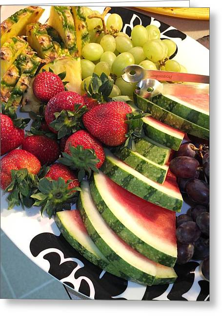 Fruit Plate Greeting Card