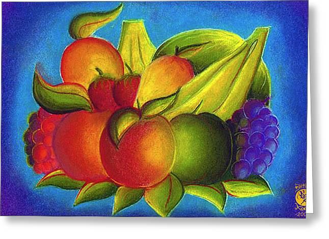 Fruit Greeting Card by Richard Bantigue