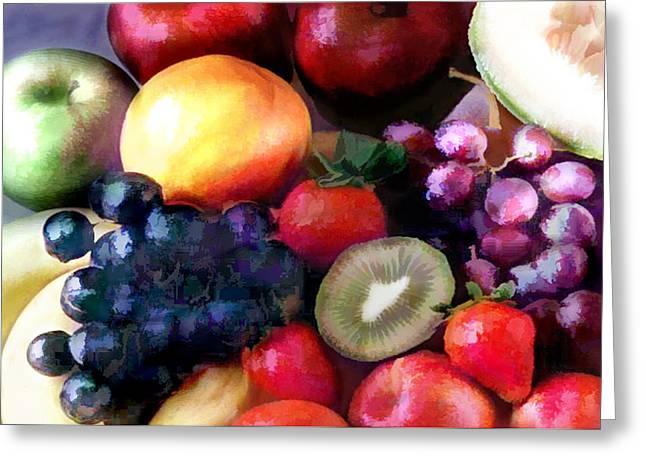 Fruit Salad Greeting Card by Elaine Plesser