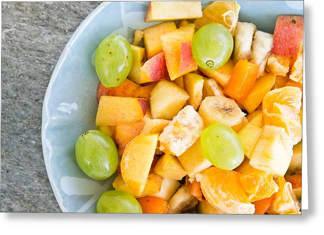 Fruit Salad Greeting Card by Tom Gowanlock