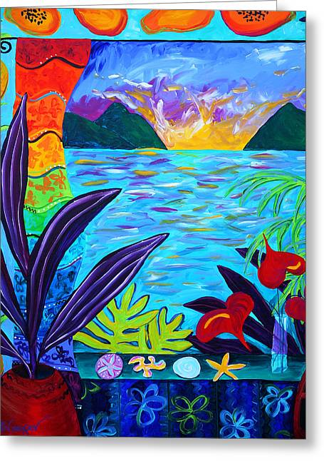 Fruit Salsa Sunrise Greeting Card by Beth Cooper