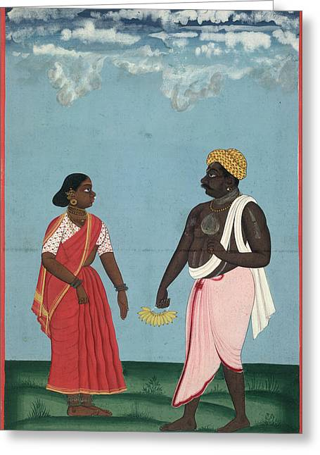 Fruit-seller And Wife Greeting Card by British Library